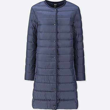WOMEN ULTRA LIGHT DOWN COMPACT COAT, NAVY, medium