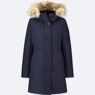 WOMEN ULTRA WARM DOWN SHORT HOODED COAT
