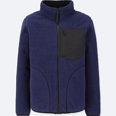 KIDS FLEECE WINDPROOF ZIPPED JACKET