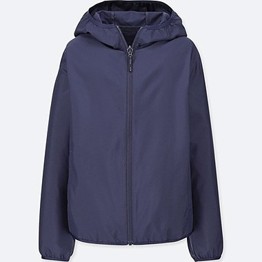 KIDS POCKETABLE PARKA, NAVY, medium