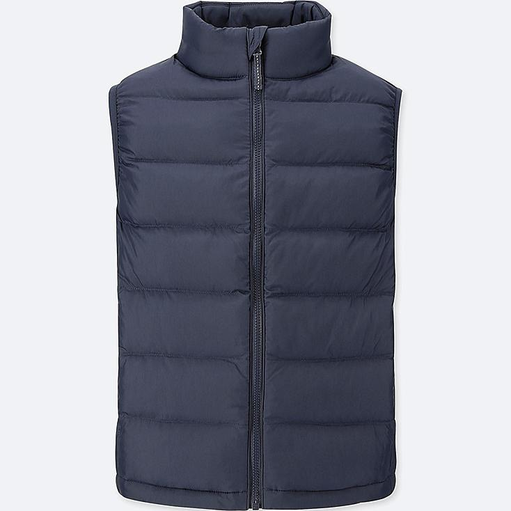 KIDS LIGHT WARM PADDED VEST, NAVY, large