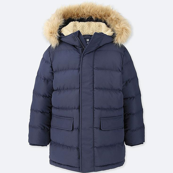 BOYS WARM PADDED COAT, NAVY, large