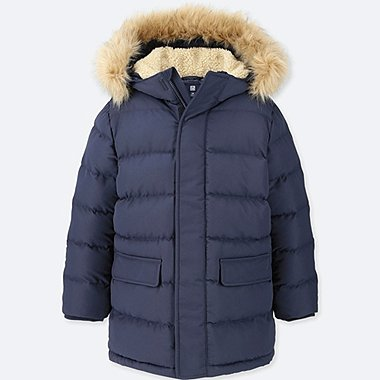 BOYS WARM PADDED COAT, NAVY, medium