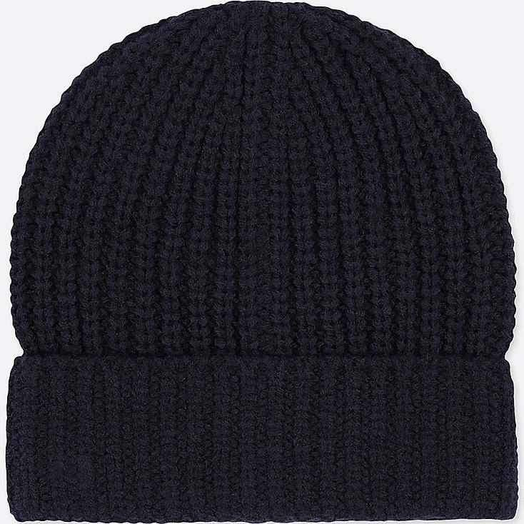 KIDS HEATTECH KNITTED CAP, NAVY, large