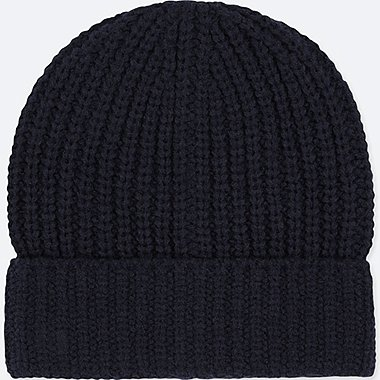 KIDS HEATTECH KNITTED CAP, NAVY, medium
