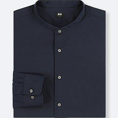 Herren Extra feines Baumwollhemd (Stehkragen, Baumwoll-Popeline)