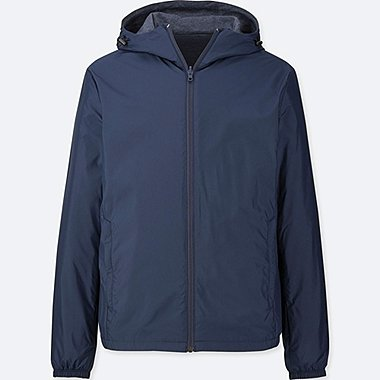 MEN HOODED POCKETABLE PARKA
