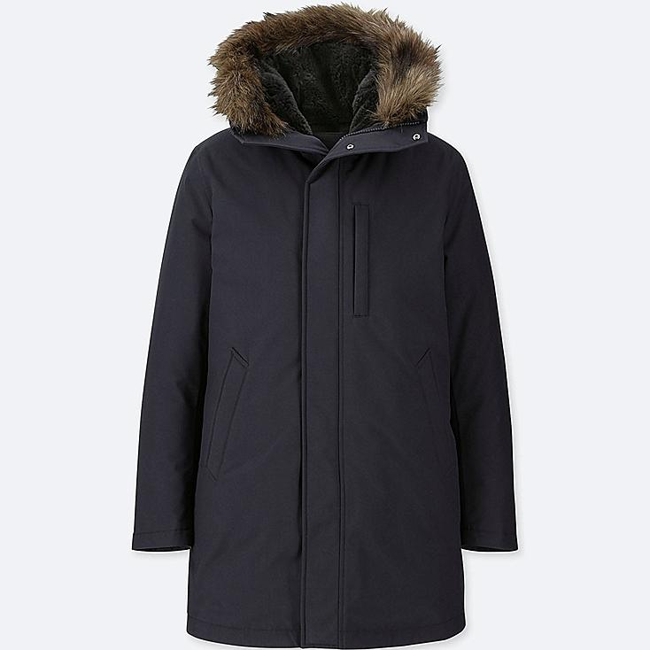 MEN ULTRA WARM DOWN COAT, NAVY, large