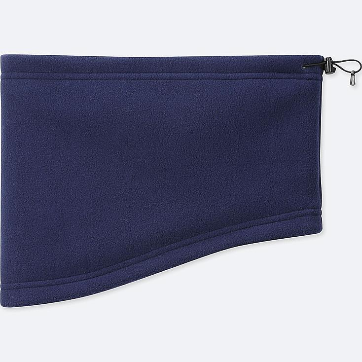 HEATTECH FLEECE NECK WARMER, NAVY, large