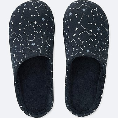 DISNEY HOLIDAY COLLECTION SLIPPERS, NAVY, medium