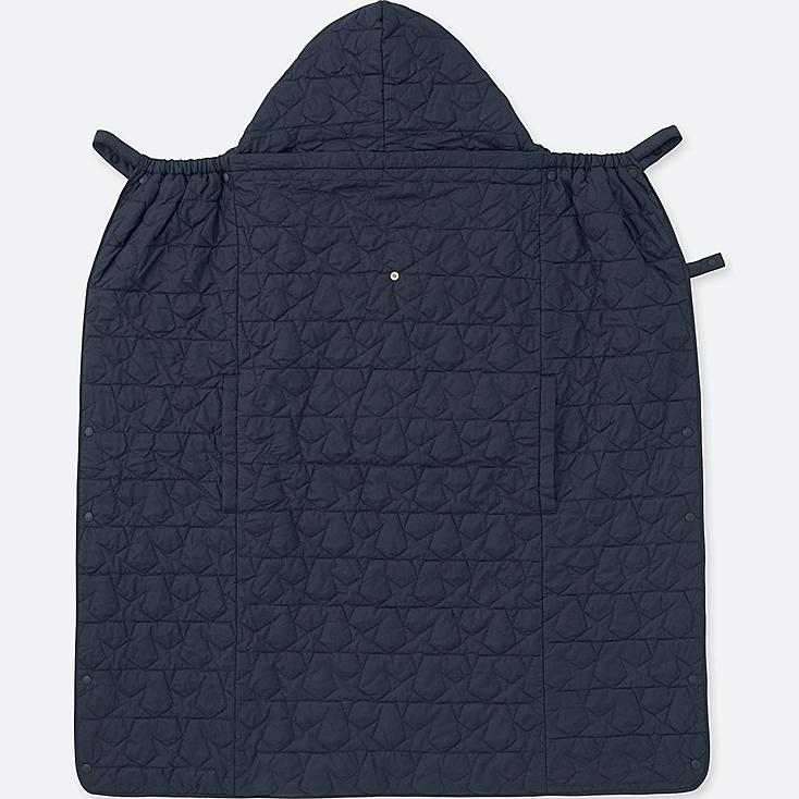 BABY LIGHT WARM PADDED 2-WAY BLANKET, NAVY, large