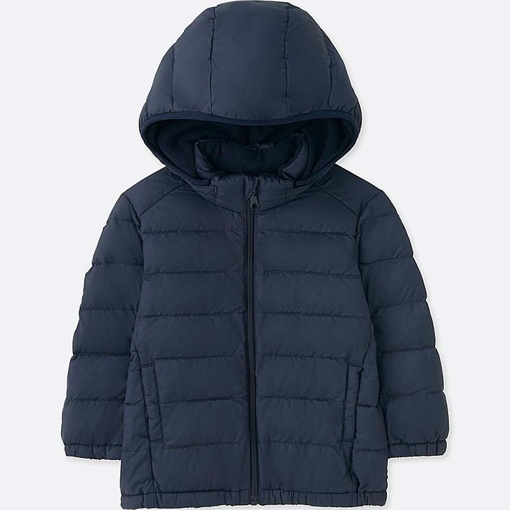 TODDLER LIGHT WARM PADDED FULL-ZIP PARKA, NAVY, large