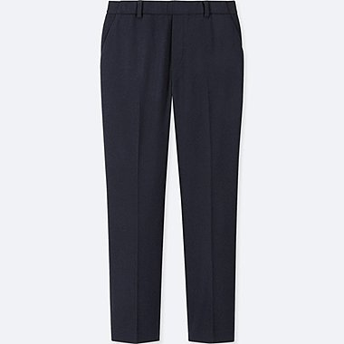 WOMEN EZY TWEED ANKLE-LENGTH PANTS (ONLINE EXCLUSIVE), NAVY, medium
