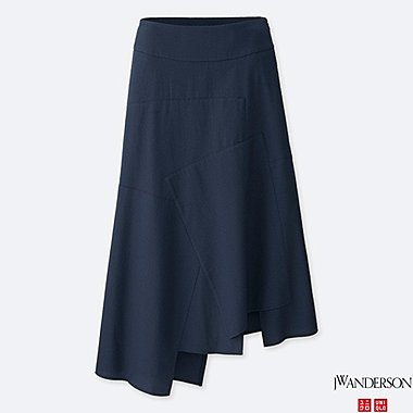WOMEN J.W.ANDERSON LINEN COTTON LONG FLARE SKIRT