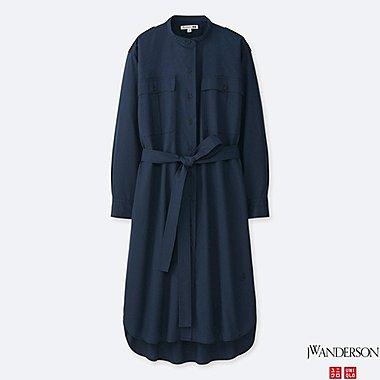 WOMEN J.W.ANDERSON EXTRA FINE COTTON LONG SLEEVE SHIRT DRESS