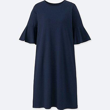 WOMEN FLARED HALF-SLEEVE BRA DRESS (ONLINE EXCLUSIVE), NAVY, medium