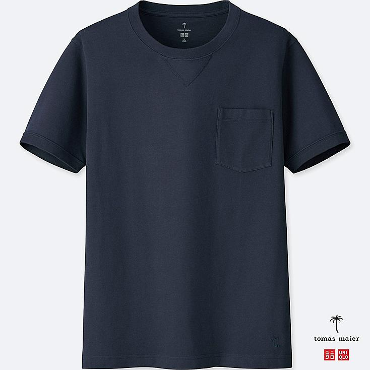 MEN SUPIMA® COTTON SHORT-SLEEVE T-SHIRT, NAVY, large