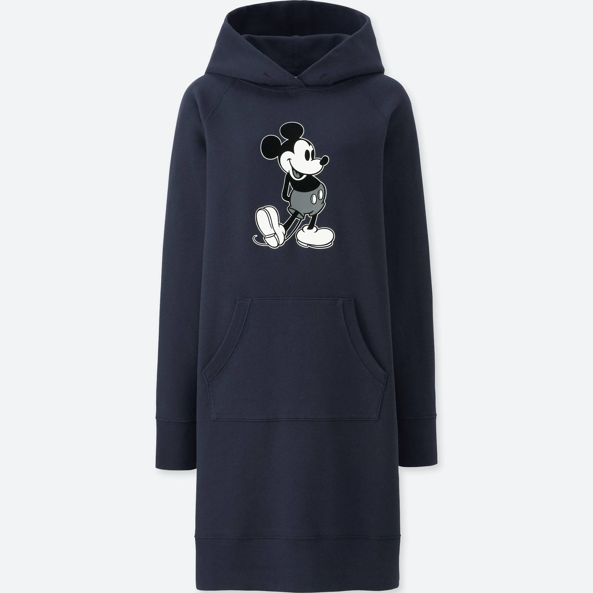 UNIQLO / Váy đầm & Jumpsuits women mickey stands graphic sweat long-sleeve dress