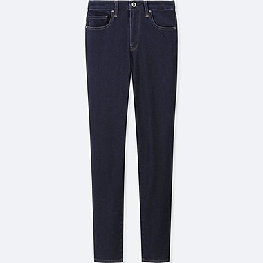 WOMEN EZY JEANS, NAVY, medium