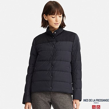 WOMEN DOWN JACKET (INES DE LA FRESSANGE), NAVY, medium