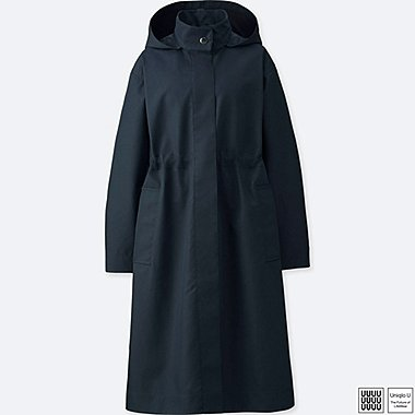 WOMEN U BLOCKTECH COAT, NAVY, medium
