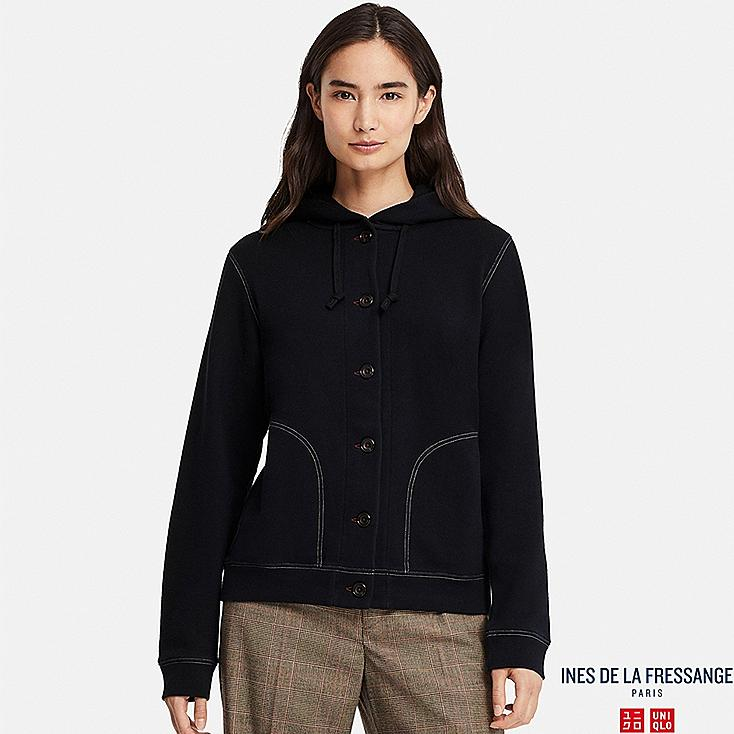 WOMEN INES FRENCH TERRY LONG SLEEVE HOODED JACKET