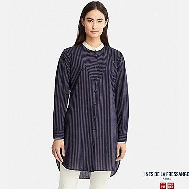 WOMEN INES COTTON LAWN LONG SLEEVED TUNIC