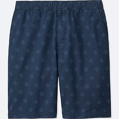 MEN DRY STRETCH WOVEN EASY SHORTS, NAVY, medium
