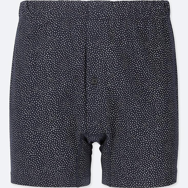 MEN KNIT BOXERS, NAVY, large