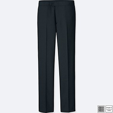 WOMEN UNIQLO U WOOL BLEND STRAIGHT TROUSERS