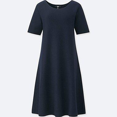 WOMEN 3D COTTON SHORT SLEEVE DRESS
