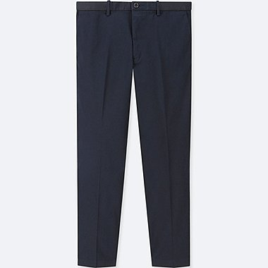 MEN EZY ANKLE-LENGTH PANTS (COTTON), NAVY, medium