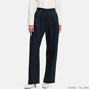WOMEN HANA TAJIMA STRETCH WIDE TROUSERS