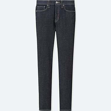 WOMEN HIGH-RISE CIGARETTE JEANS, NAVY, medium