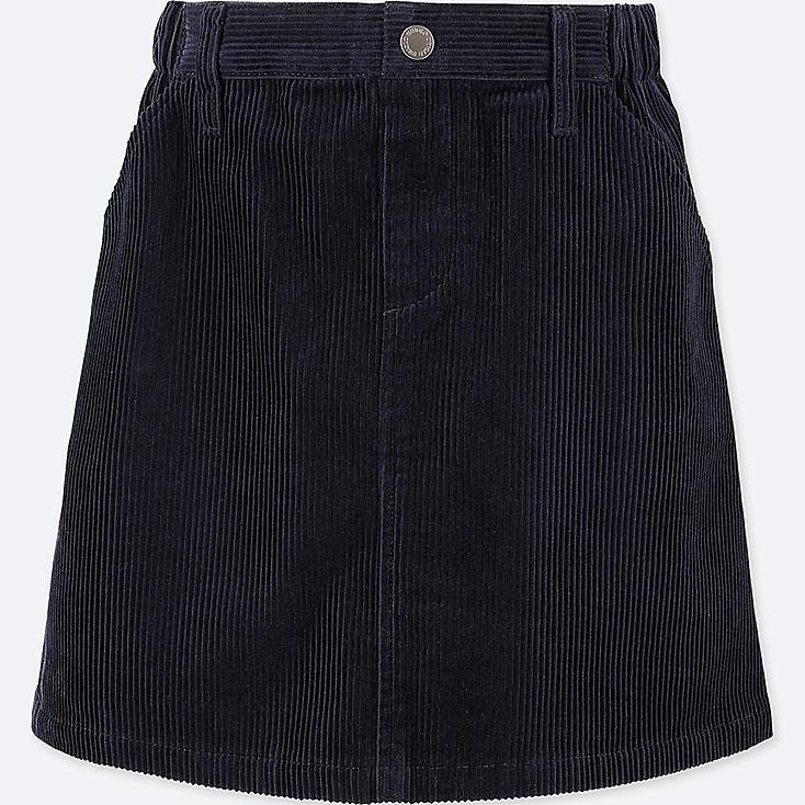 GIRLS CORDUROY SKIRT, NAVY, large