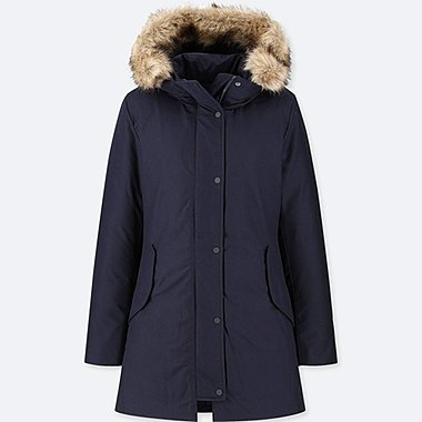 WOMEN NON-QUILTED DOWN SHORT COAT