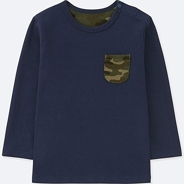 TODDLER CREW NECK LONG-SLEEVE T-SHIRT, NAVY, medium