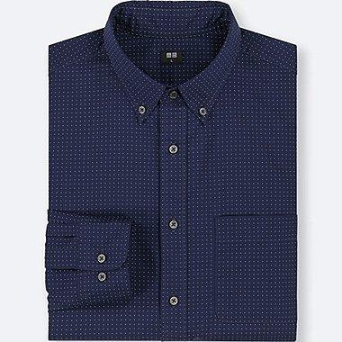 Herren extra-feines Baumwollhemd (gemustert)