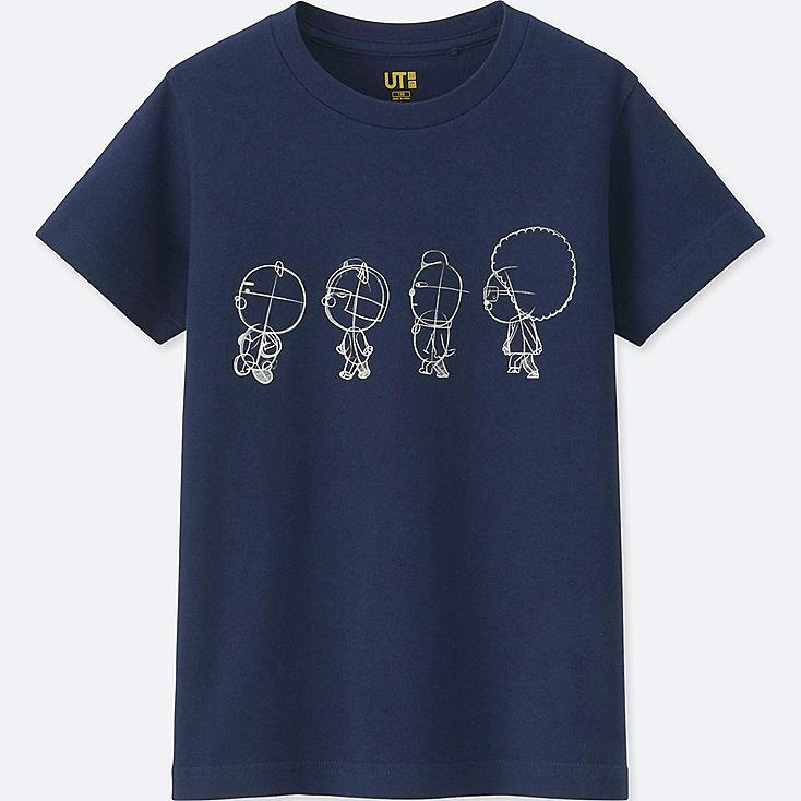 KIDS KAKAO FRIENDS SHORT-SLEEVE GRAPHIC T-SHIRT, NAVY, large