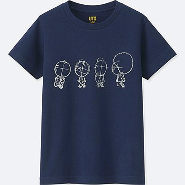 KIDS KAKAO FRIENDS SHORT-SLEEVE GRAPHIC T-SHIRT, NAVY, medium