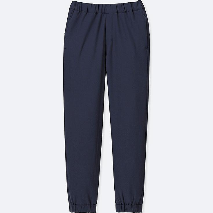 KIDS WARM-LINED JOGGER PANTS, NAVY, large
