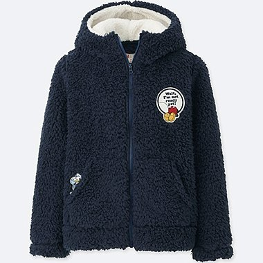KIDS DISNEY FLEECE PARKA, NAVY, medium