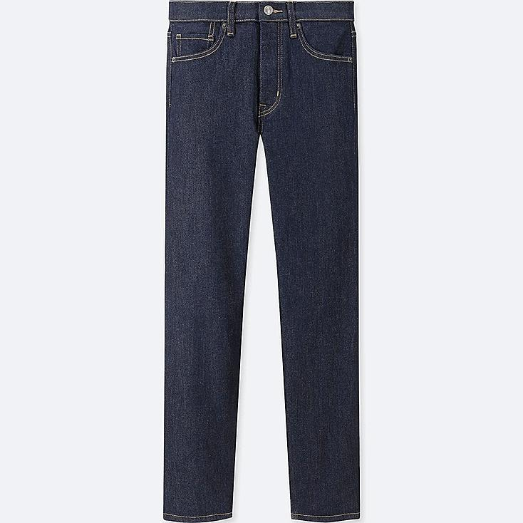WOMEN HIGH-RISE STRAIGHT JEANS, NAVY, large