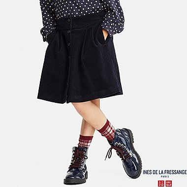 GIRLS CORDUROY SKIRT (INES DE LA FRESSANGE), NAVY, medium