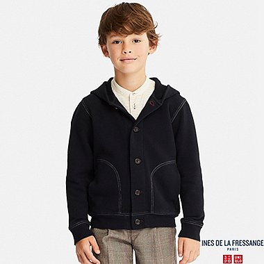 KIDS INES FRENCH TERRY LONG SLEEVE HOODIE