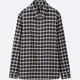 WOMEN FLANNEL CHECKED LONG-SLEEVE SHIRT/us/en/women-flannel-checked-long-sleeve-shirt-412264.html