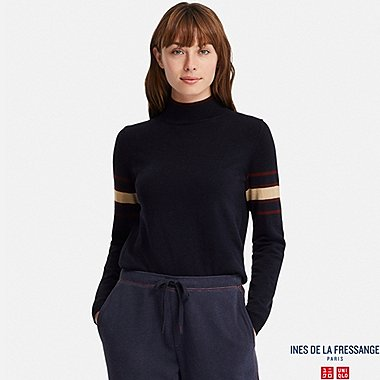 INES - PULL MÉRINOS EXTRA FIN COL CHEMINÉE FEMME