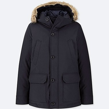 e34a76d82df MEN NON-QUILTED HOODED DOWN JACKET