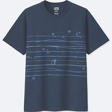 MICKEY BLUE SHORT-SLEEVE GRAPHIC T-SHIRT, NAVY, medium