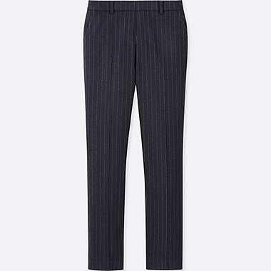 WOMEN EZY TWEED CHALK STRIPE TROUSERS